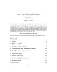 Metric and Topological Spaces by T. W. Korner