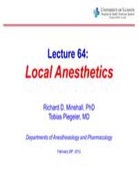 Lecture 64: Local Anesthetics by Minshall, Richard D.