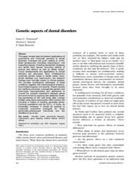 Genetic Aspects of Dental Disorders by Townsend, Grant C.