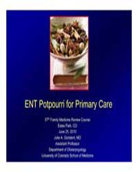 Ent Potpourri for Primary Care by Goddard, Julie A.