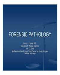 Forensic Pathology by Jones, Nancy L .