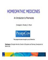 Homeopathic Medicines an Introduction to... by Merville, Christophe R.