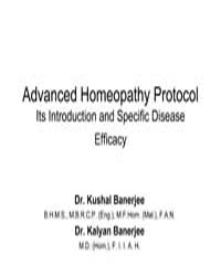 Advanced Homeopathy Protocol Its Introdu... by Banerjee, Dr. Kushal