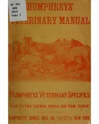 Manual of Veterinary Specific Homeopathy by Humphreys, F.