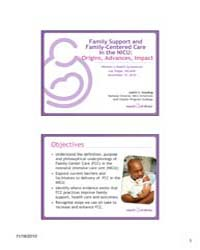 Family Support and Family Centered Care ... by Gooding, Judith S.