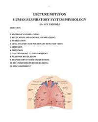 Lecture Notes on Human Respiratory Syste... by Erdemli, Gul