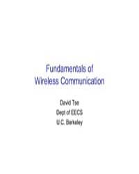 Fundamentals of Wireless Communication by Tse David, Berkeley