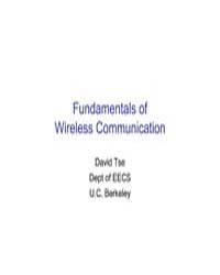 Fundamentals of Wireless Communication by Tse David, Berkeley