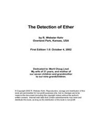 Detection of Ether by Kehr, R. Webster; Park, Overland; Kansas
