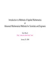 Introduction to Methods of Applied Mathe... by Mauch, Sean