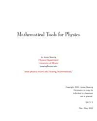Mathematical Tools for Physics II by Nearing, James