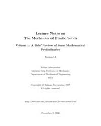 Lecture Notes On the Mechanics of Elasti... by Abeyaratne, Rohan