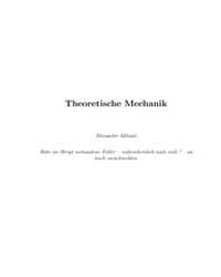Theoretische Mechanik by Altland, Alexander