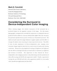 Considering the Surround in Device Indep... by Fairchild, Mark D.