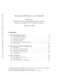 Statistical Mechanics in a Nutshell by Chou, T.