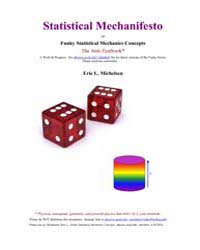 Statistical Mechanifesto by Michelsen, Eric L.