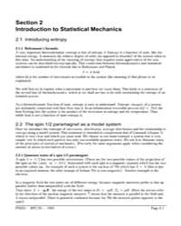 Section 2 Introduction to Statistical Me... by Technical Books Center