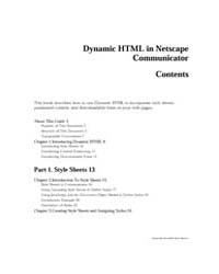 Dynamic Html in Netscape Communicator by Technical Books Center