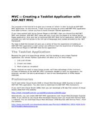 Mvc :: Creating a Tasklist Application w... by Microsoft Corporation