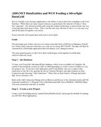 Ado.Net Dataentities and Wcf Feeding a S... by Microsoft Corporation