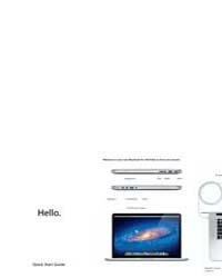 Apple Support Manuals : MacBook Pro Reti... by Apple Computer Inc.