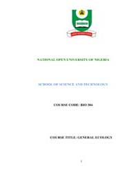 School of Science and Technology ; Ecolo... by Omoogun, G. A.