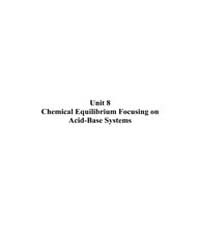 Chemical Equilibrium Focusing on Acid Ba... by Technical Books Center