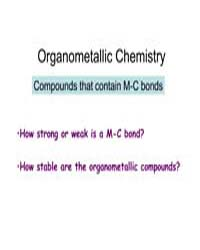 Organometallic Chemistry Compounds That ... by Crabtree, Robert H.