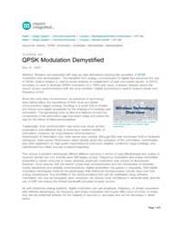 Qpsk Modulation Demystified by Technical Books Center