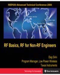 Rf Basics, Rf for Non Rf Engineers by Grini, Dag