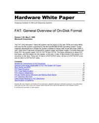 Fat General Overview of on Disk Format by Technical Books Center