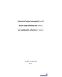 Austrian Federal Constitutional Laws by Technical Books Center