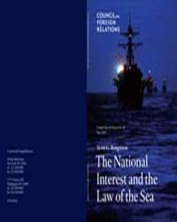 The National Interest and the Law of the... by Borgerson, Scott G.