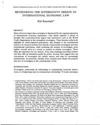 Rethinking the Sovereignty Debate in Int... by Raustiala, Kal