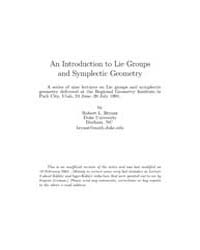 An Introduction to Lie Groups and Symple... by Bryant, Robert L.
