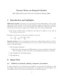 Lecture Notes on Integral Calculus II by Li, Yue-xian Li