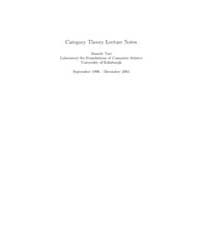 Category Theory Lecture Notes by Turi, Daniele