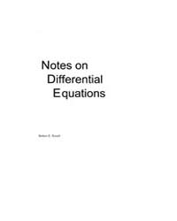 Notes on Differential Equations by Terrell, Robert E.
