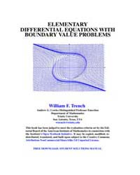 Elementary Differential Equations with B... by Trench, William F.