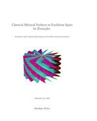 Classical Minimal Surfaces in Euclidean ... by Weber Matthias