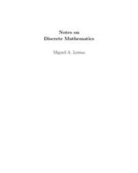Notes on Discrete Mathematics by Lerma, Miguel A.