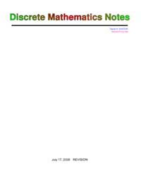 Discrete Maths Lecture Notes by Santos, David A.