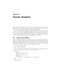 Fourier Analysis, Chapter 8 by Moler, Cleve