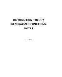 Distribution Theory Generalized Function... by Wilde, Ivan F.