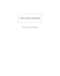 Functional Analysis Notes by Belton, Alexander C. R.