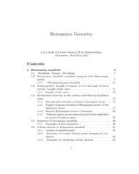 Riemannian Geometry Lecture Notes I by Khudaverdian, H.M.
