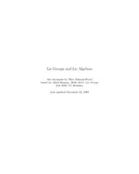 Lie Groups and Lie Algebras by Freyd, Theo Johnson