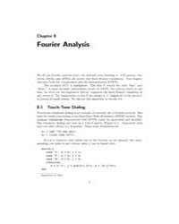 Fourier Analysis 1 by Moler, Cleve