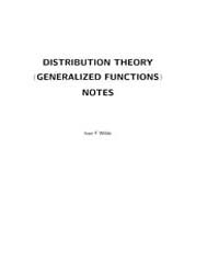 Distribution Theory Generalized Function... by Wilde; Ivan, F