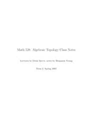 Algebraic Topology Class Notes 1 by Sjerve Denis; Young, Benjamin
